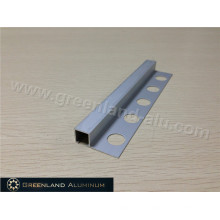 Matt Silver Aluminum Square Schluter Strip10mm Height