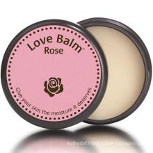 Private Label Natural Rose Scent Love Hydrating Moisturizing Lip Balm