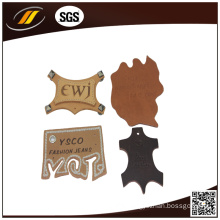 Self Adhesive Leather Patch Embossed Leather Label (HJ0607)