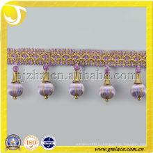 Деревянные бусины Tassel Fringe Textile Fringe Supplier