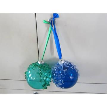 Рождественский цветной стеклянный шар