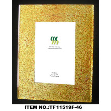 Oval Gold Foil Paper Glass Photo Frame