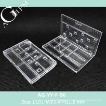 Прозрачный прямоугольные Multi ГРИД-глаз тени дело AG-YY-F-96, AGPM косметической упаковки, Эмблема цветов