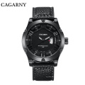 6858 Wristwatch Fashion Bezel avec 8 vis à large lanière en cuir Ss Buckle
