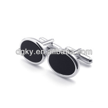 Men fashion stainless steel button cuff links