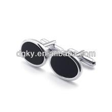 Homens moda botões de aço inoxidável botão de punho