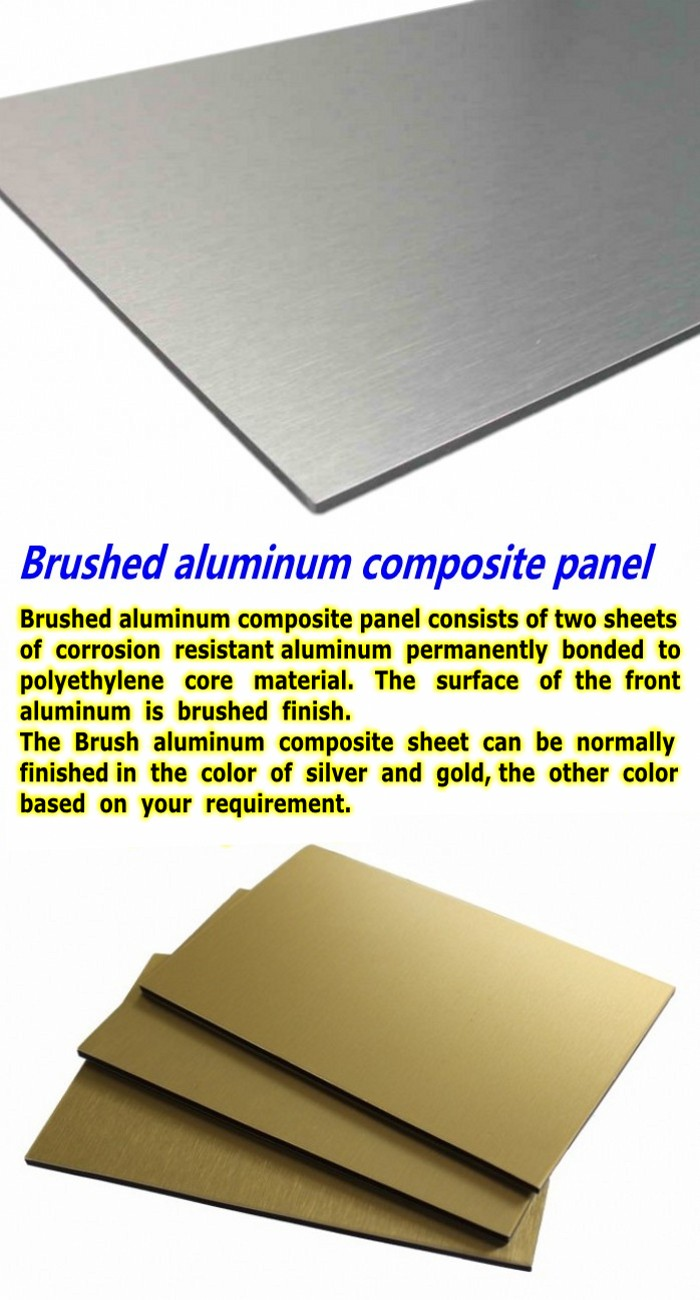 Brushed Aluminum Composite Panel : China brushed aluminum composite panel high quality