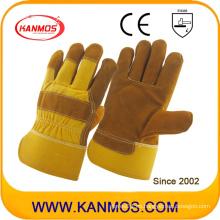 Seguridad Industrial Guantes de trabajo de cuero de cuero de vaca de Palm (110112)
