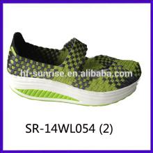 2014 новых стилей SR-14WL054 смешивать цвета ручной тканые ремни обувь