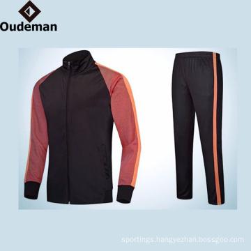 2017 latest design100% Polyester Dark blue Long Sleeve Mens Sports Wear Men Plain Tracksuit