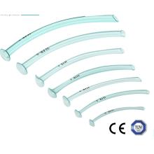 Vía respiratoria nasofaríngea desechable médica de color azul