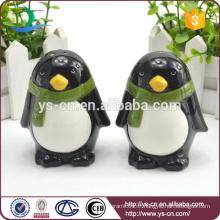 Cadeaux de vacances de Noël Penguin en céramique Salin et poivrière en gros