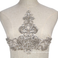 top lace piece encrusted crystal DIY rhinestone patch applique for 2020 collection RM379