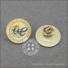 Pin redondo de la solapa de la escuela, insignia de la organización (GZHY-LP-038)