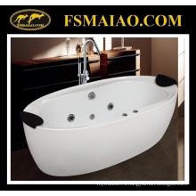 Классический стиль акриловая freestanding ванна с 2 подголовниками (9004)