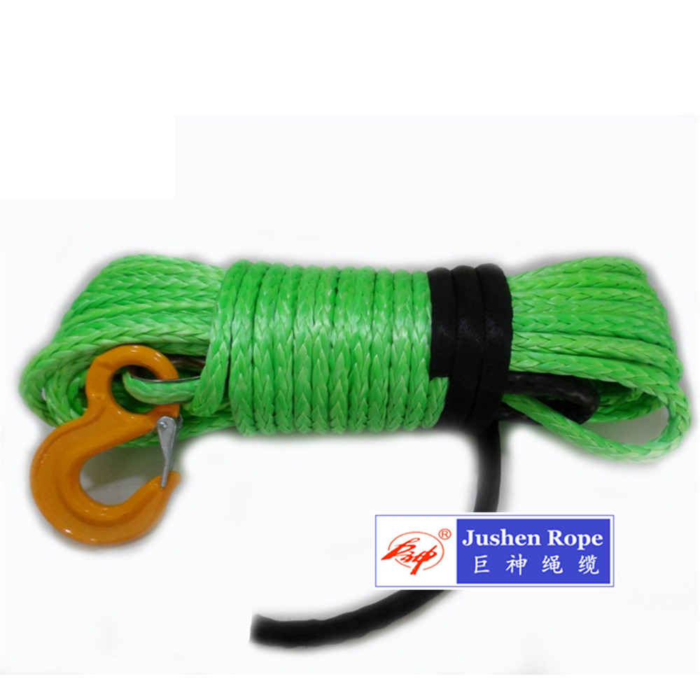 12 Strand Uhwmpe Synthetic Winch Rope