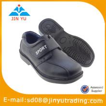 2015 escuela negro niños zapatos de cuero