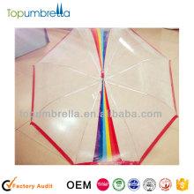 """Guarda-chuva da capa de chuva das crianças do pvc do arco-íris de 21 """"8k"""