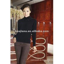Frauen warmer Kaschmir Winter schwarzer Pullover