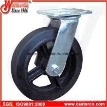 Roda giratória de borracha de 4 polegadas a 8 polegadas Mold-on