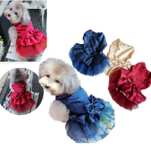 wholesale Summer clothes luxury party wedding dog dress Lovely silk skirts