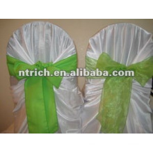 self-tie satin bag chair cover with sash for wedding and banquet