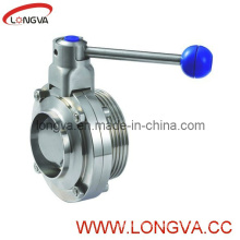 Stainless Steel Wedling-Male Manual Butterfly Valve