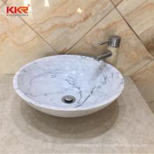 Kkr Not deformed natural stone washroom marble basin