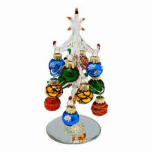 Crystal Christmas Tree with Fashion, Elegant and Changing, Handmade by Senior Workers, High Skill
