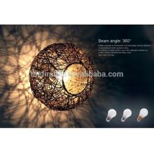 Lampe à LED en plastique 3W lampe à lampe 2835SMD E27