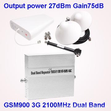 Repetidor 3G de la señal del reforzador de la señal del teléfono móvil de la banda 2g / 3G / 4G para la venta
