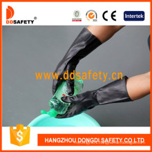 Black Latex Industry Work Gloves Pasted Ce DHL501