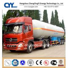 Chine LNG Liquide oxygène Nitrogen Carbon Dioxide Argon Tank Car Semi Semi-remorque
