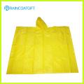 Promotion Adult Yellow PVC Rain Poncho
