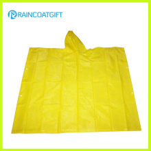 Promotion Adult Yellow PVC Rain Poncho