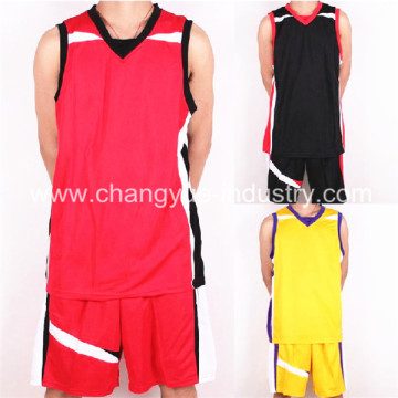 designed new style basketball wear for sports man