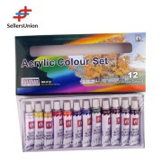 EN71 high quality hot-selling 12colors*12ml professional acrylic color set, acrylic paint set