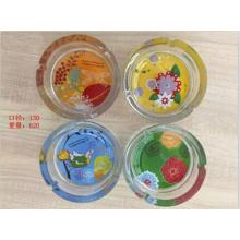 Heißer Farbe Kristall Glas Aschenbecher mit gutem Preis Kb-Hn07682