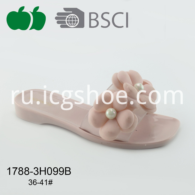 new style ladies pvc slippers