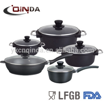 10 pieces die-casting non-stick cookware set