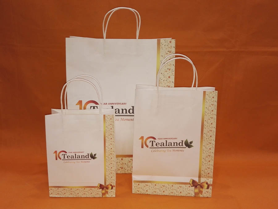 Cliente stampa Carta shopping bag-tealand