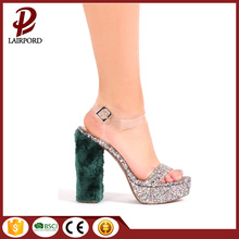 new style fashional high heel wedge sandals
