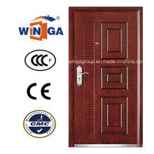 Good Price Luxury MDF Veneer Steel -Wood Armored Door (W-A15)