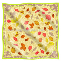 For Spring Season Original Leaf Design 100 Silk Pashmina
