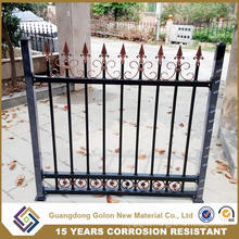 Powder Coated Hot Dipped Galvanized Steel Fence