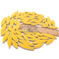 Yellow Leaf Shape Ceramic Mosaic for Mosaic Art