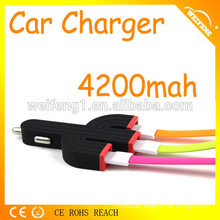 High-end mini dual port usb 4.2a car charger for laptop