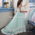 Hot sell New design children frocks Floor length Aline lace baby girl party dress with different size