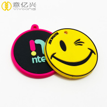Cheap customized logo PVC tag rubber label badge
