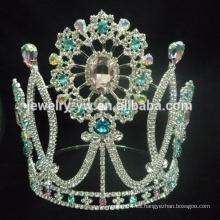 Corona de cristal de encargo caliente de la tiara de la venta al por mayor caliente de la calabaza de Halloween